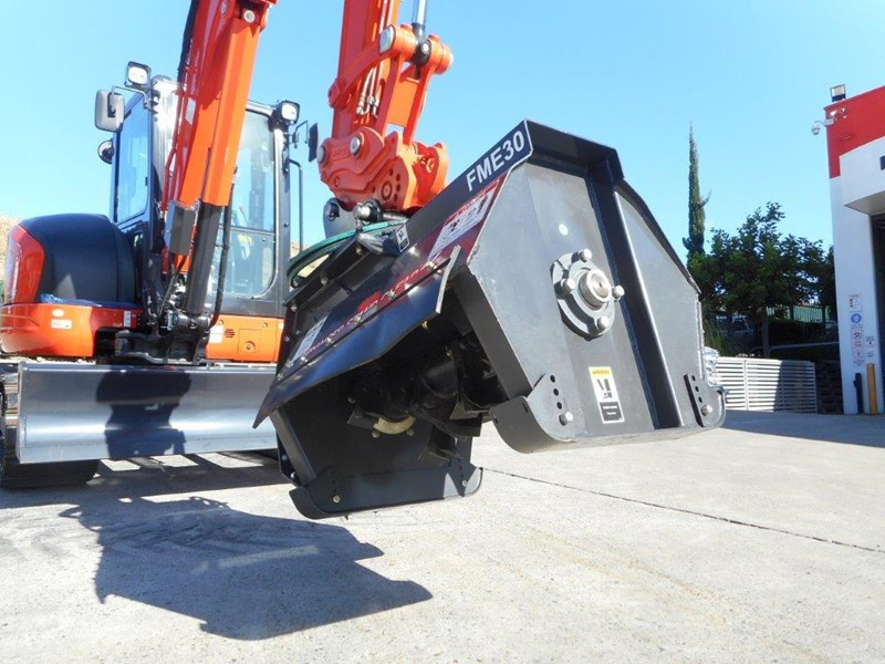 kubota u57 5.5t excavator kx57 kx057 fitted with 724mm flail mower [attslash][attmulch][machkubo] 297376 012