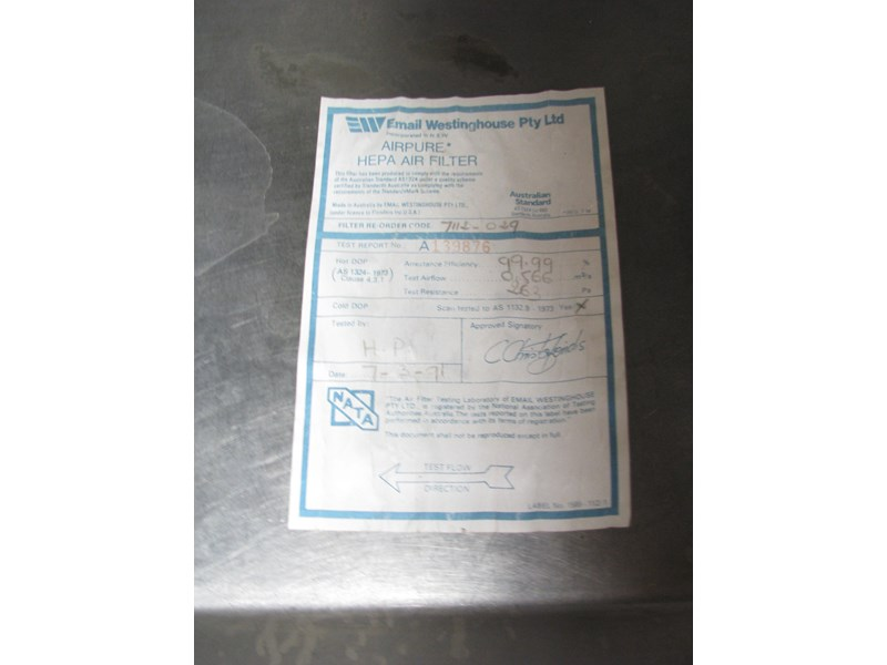 email westinghouse airpure biological safety cabinet class 2 302521 010