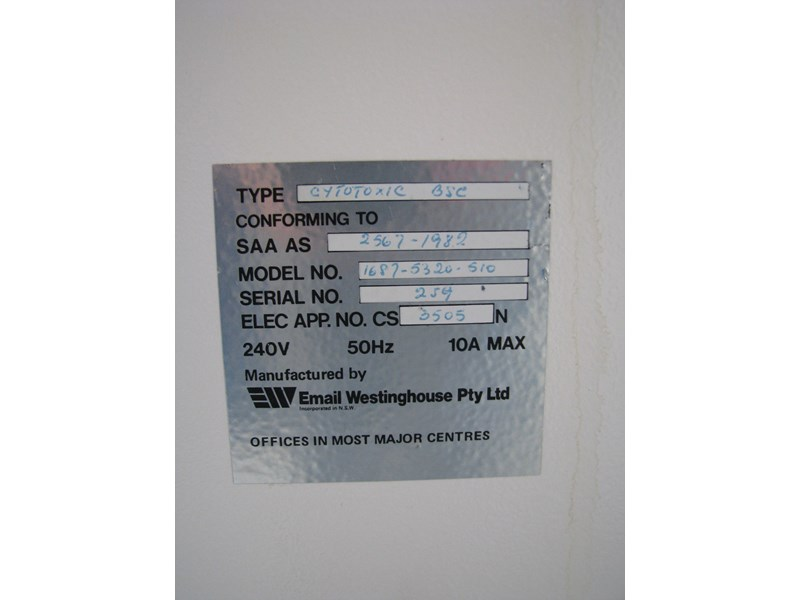 email westinghouse airpure biological safety cabinet class 2 302521 012