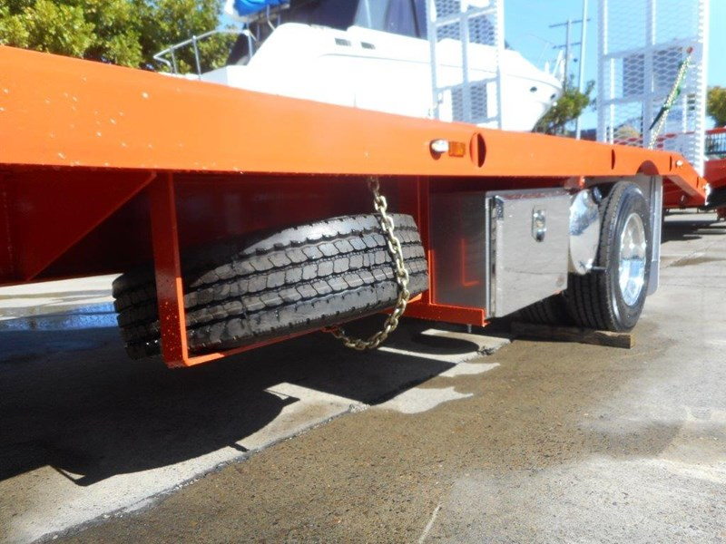 kubota 11 ton single axle 5m tag trailer combo with kubota kx-57/u57 5.5 ton excavator [machexc] [attrail] [mcombo] 318321 015