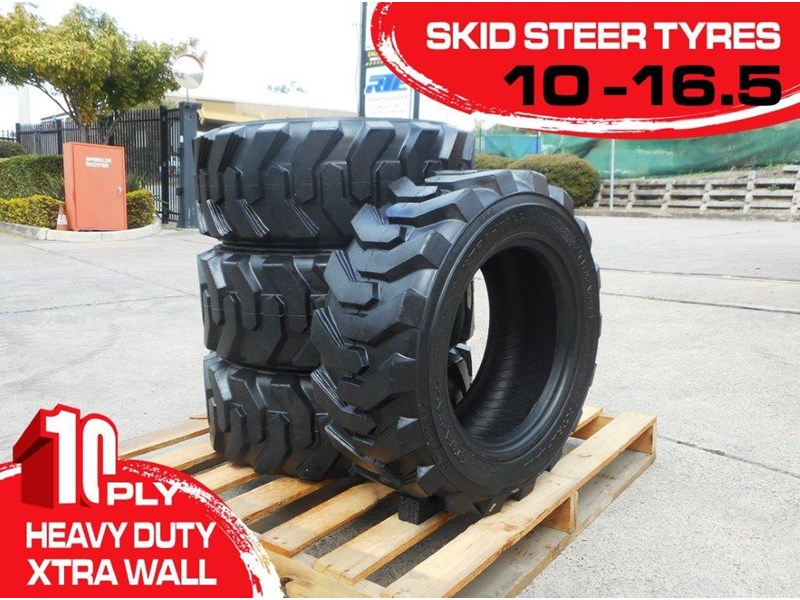 rhino 10-16.5 skid steer loader spare tyres - 10ply xtra side walls [heavy duty] [20kg] suit bobcats loaders [atttyre] 326254 002