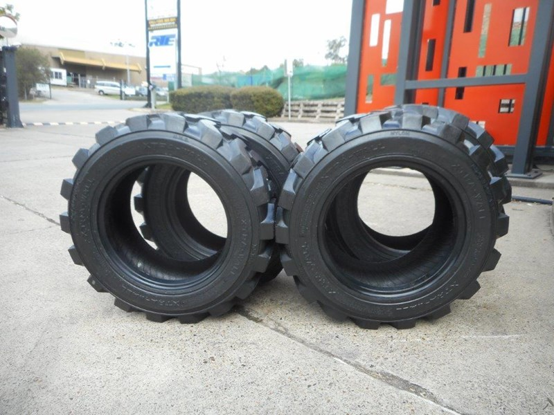 rhino 10-16.5 skid steer loader spare tyres - 10ply xtra side walls [heavy duty] [20kg] suit bobcats loaders [atttyre] 326254 004