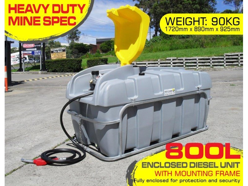 lockable & secure poly 800l diesel unit / diesel fuel tank with mounting frame [dm800mf] [tfpoly] 243059 001