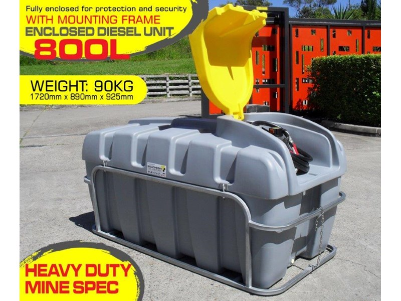 lockable & secure poly diesel unit / 800l diesel fuel tank with mounting frame [dm800mf] [tfpoly] 243065 001