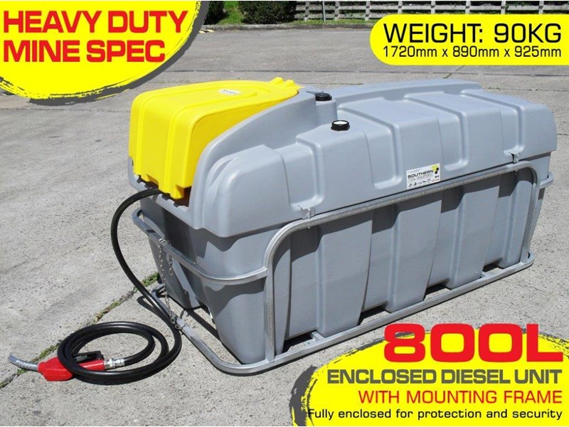 lockable & secure poly diesel unit / 800l diesel fuel tank with mounting frame [dm800mf] [tfpoly] 243065 002