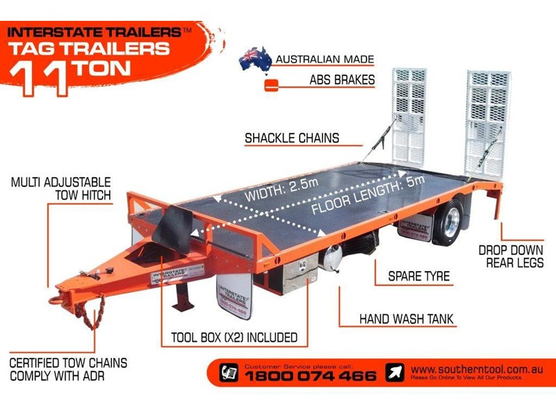 interstate trailers 11 ton tag trailer 302040 003