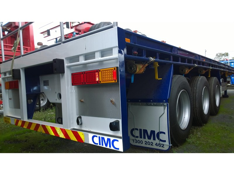 cimc flat deck semi trailer 343611 001