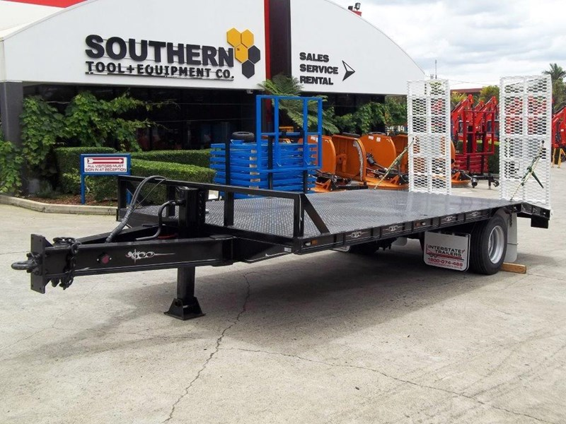 interstate trailers 9 ton base line design tag trailers - suit skid steer loaders / excavator [attttrail] 6.5 ton payload, 2.5 ton tare 344440 007