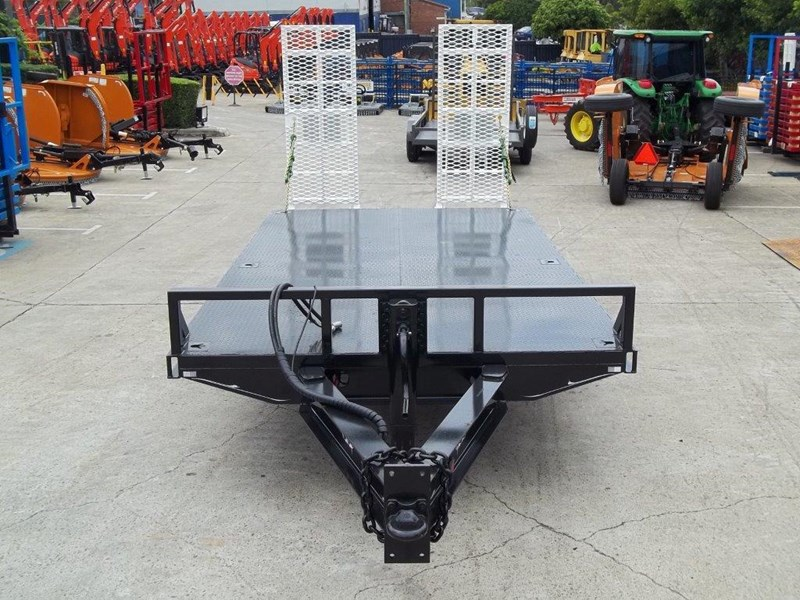 interstate trailers heavy duty 9 ton base line design tag trailers - suit skid steer loaders [attttrail] 344439 007