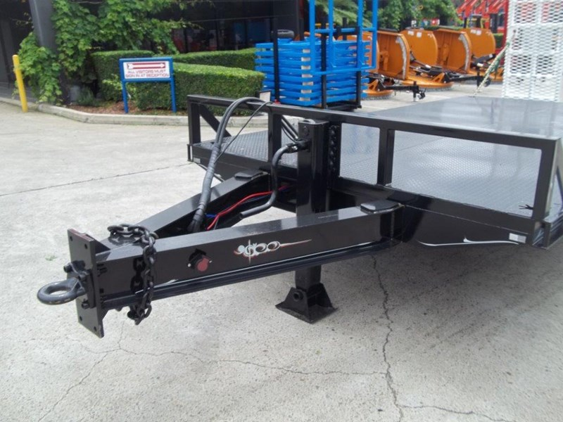 interstate trailers heavy duty 9 ton base line design tag trailers - suit skid steer loaders [attttrail] 344439 014