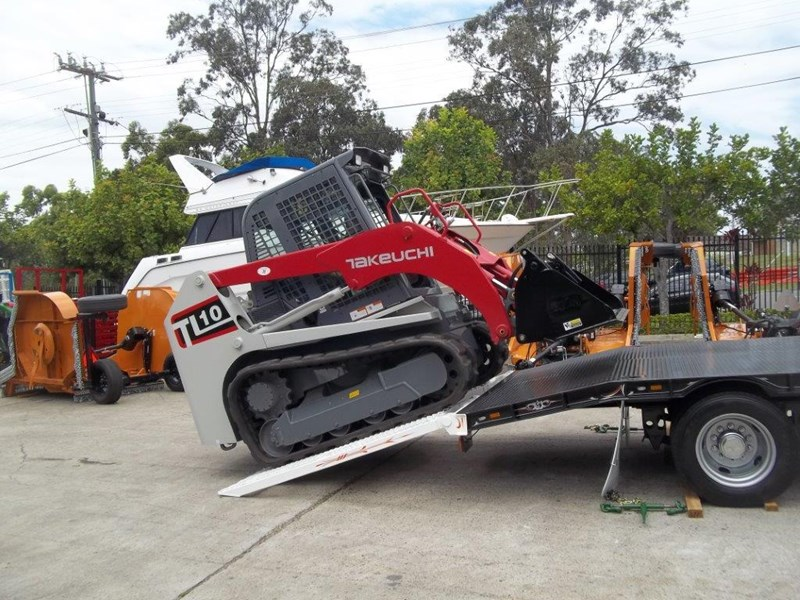 interstate trailers heavy duty 9 ton base line design tag trailers - suit skid steer loaders [attttrail] 344439 028