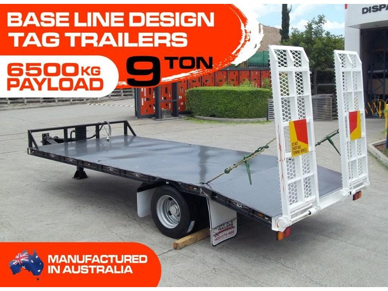 interstate trailers heavy duty 9 ton base line design tag trailers - suit skid steer loaders [attttrail] 344439 002