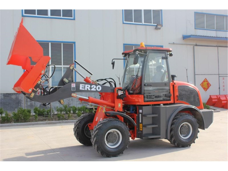 everun er20 wheel loader with 2 buckets and forks 349639 003