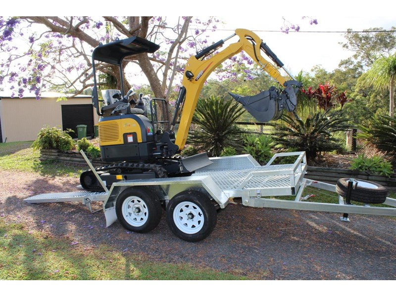 carter yanmar powered zero swing with plant trailer 349558 006