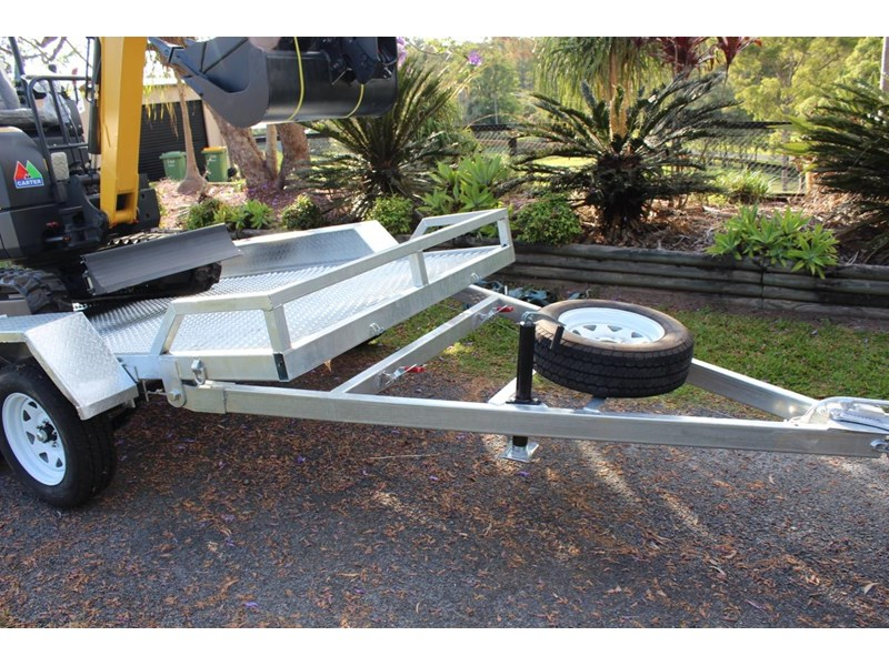 carter yanmar powered zero swing with plant trailer 349558 007