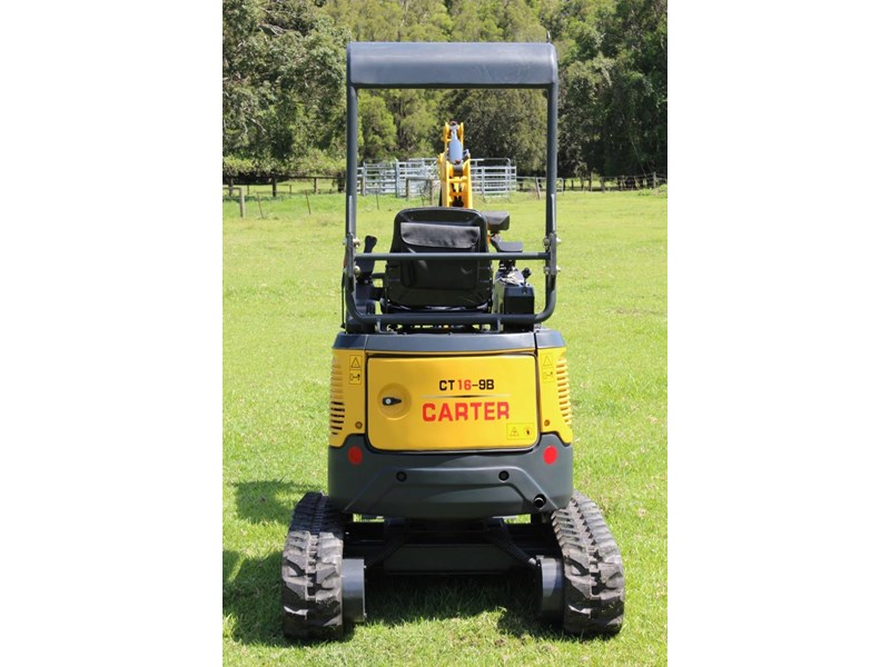carter ct16 yanmar powered mini excavator zero swing 349469 009