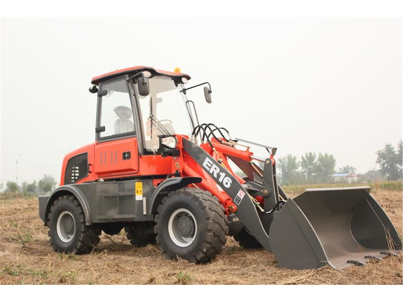 everun er16 wheel loader with 2 buckets and forks 350213 001