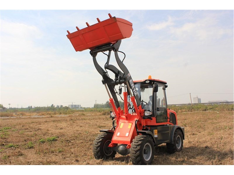 everun er12 wheel loader with 2 buckets and forks 349636 023