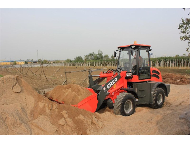 everun er20 wheel loader with 2 buckets and forks 349639 008
