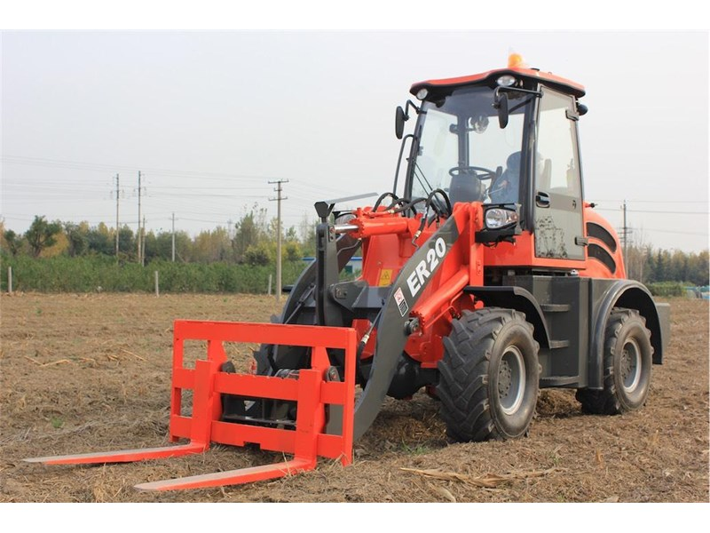 everun er20 wheel loader with 2 buckets and forks 349639 009
