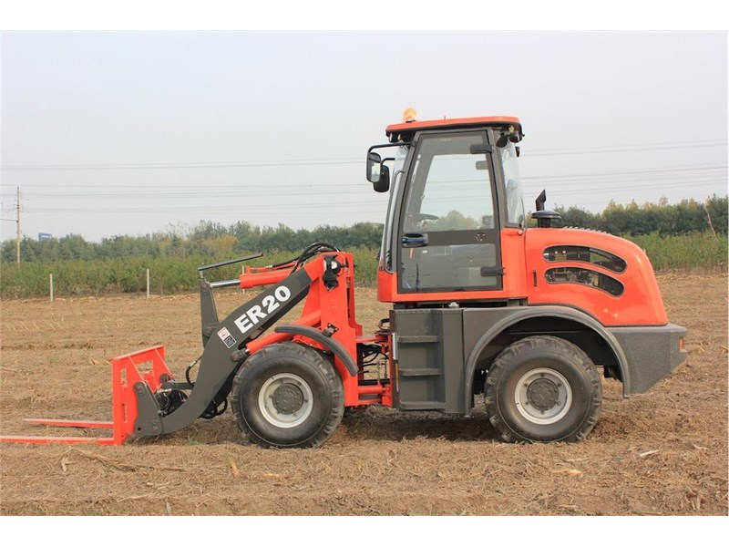 everun er20 wheel loader with 2 buckets and forks 349639 011