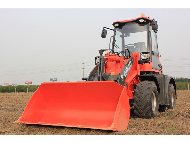 everun er20 wheel loader with 2 buckets and forks 349639 013