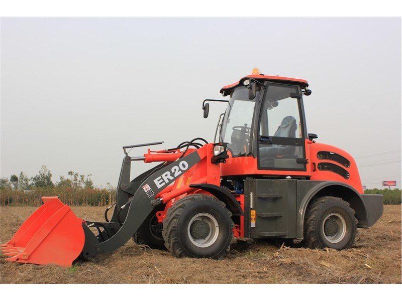 everun er20 wheel loader with 2 buckets and forks 349639 014