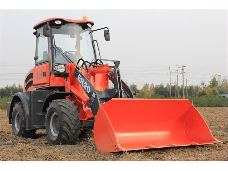 everun er20 wheel loader with 2 buckets and forks 349639 002