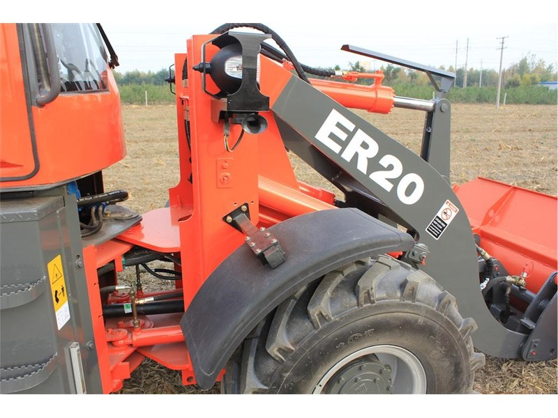 everun er20 wheel loader with 2 buckets and forks 349639 017