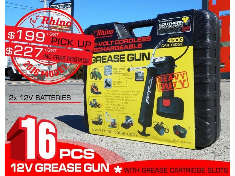 rhino rechargeable - 12v grease gun [tfggun]- [gg06] [pick up] 242946 001