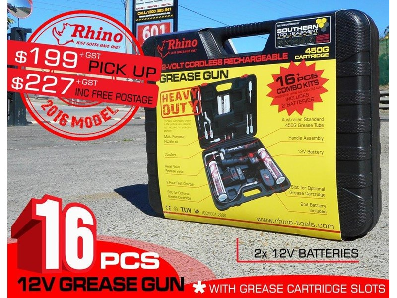 rhino rechargeable - 12v grease gun [tfggun]- [gg06] [pick up] 242946 003