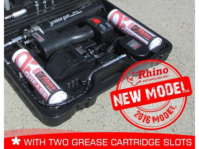 rhino 12v rechargeable grease gun - [tfggun] gg06 [free delivery] 242947 016