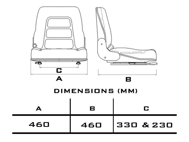 custom universal suspension seat 355090 003