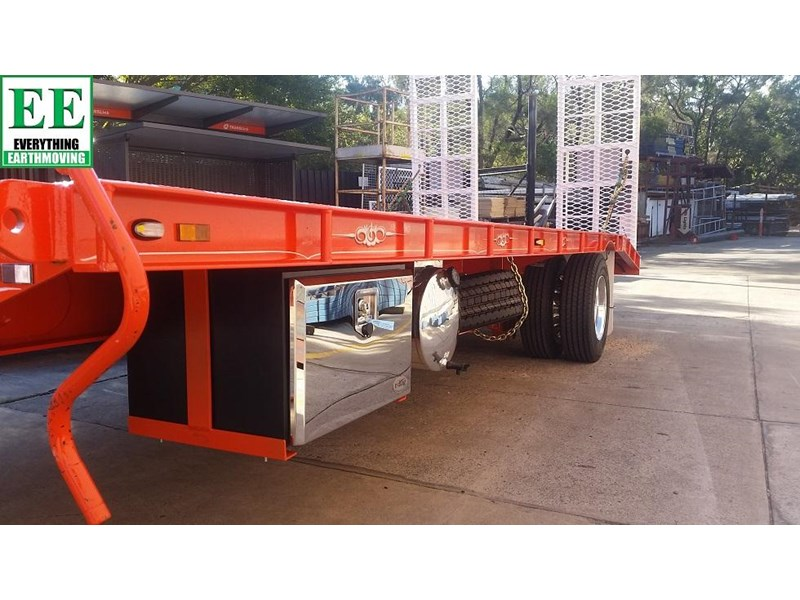 everything earthmoving 11t atm single axle tag trailer with beaver tail 357093 010