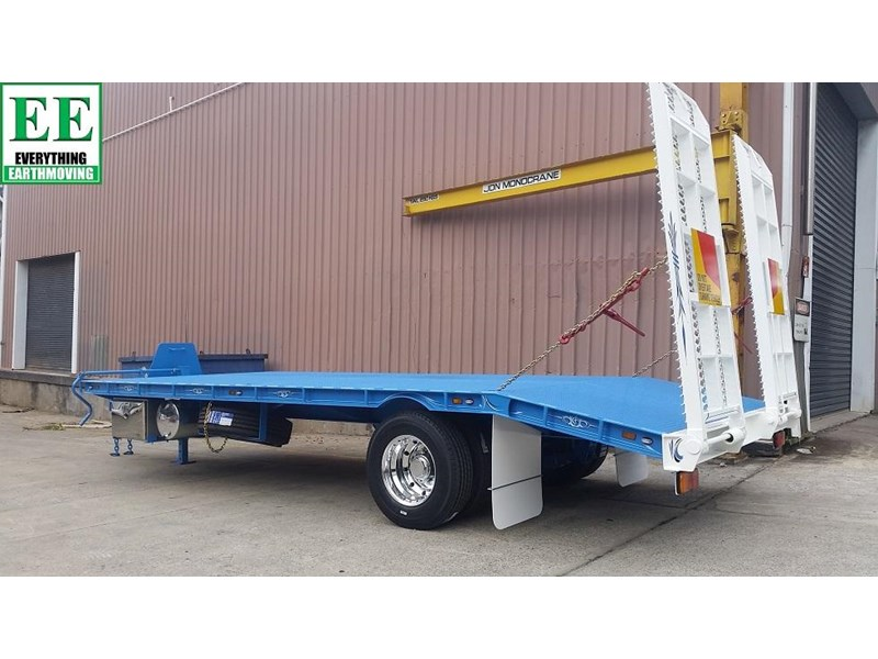 everything earthmoving 11t atm single axle tag trailer with beaver tail 357093 016
