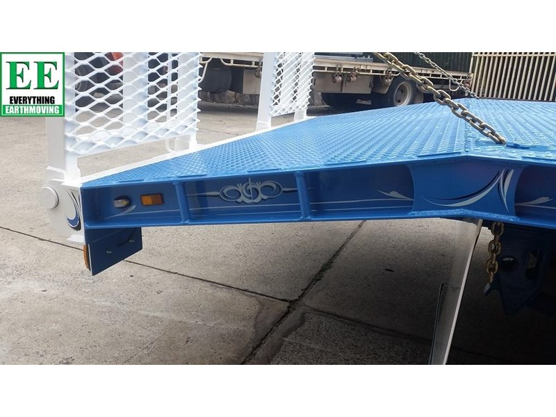 everything earthmoving 11t atm single axle tag trailer with beaver tail 357093 021