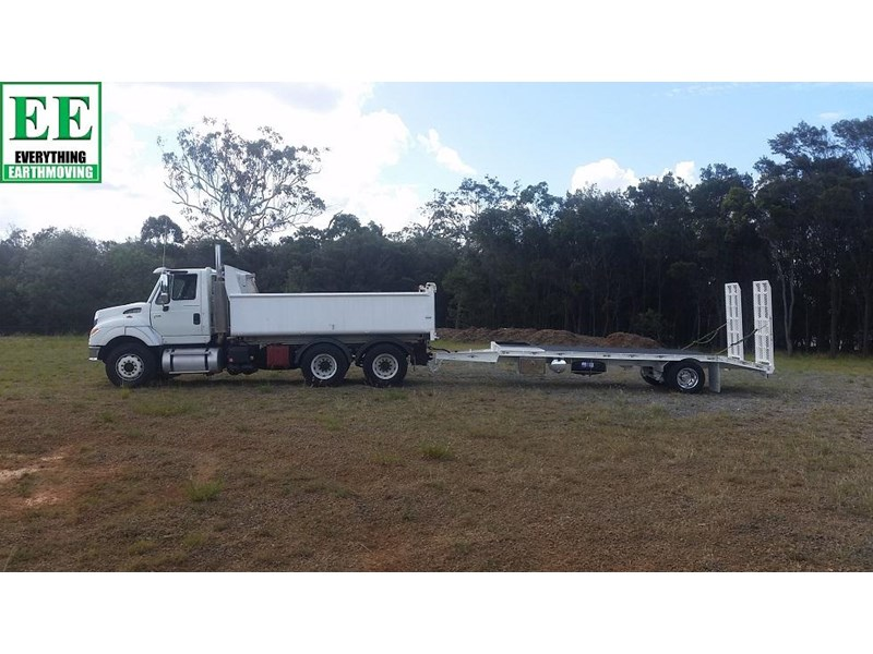 everything earthmoving 11t atm single axle tag trailer with beaver tail 357093 032