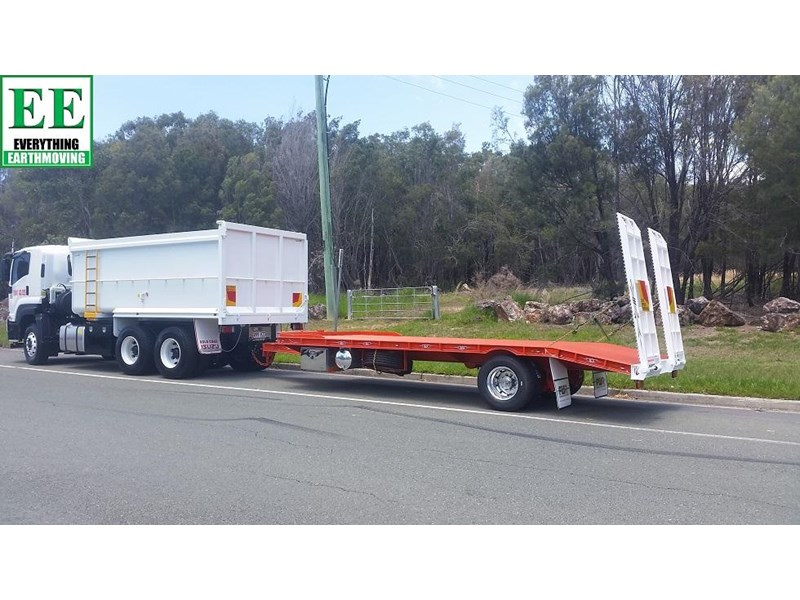 everything earthmoving 11t atm single axle tag trailer with beaver tail 357093 035