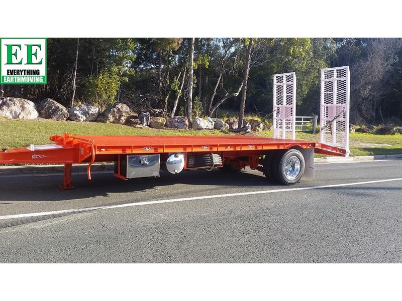 everything earthmoving 11t atm single axle tag trailer with beaver tail 357093 004