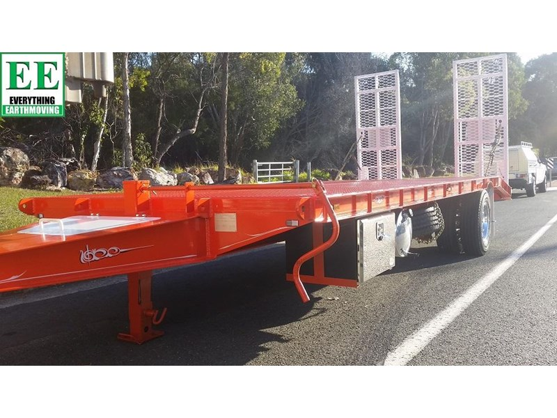 everything earthmoving 11t atm single axle tag trailer with beaver tail 357093 005