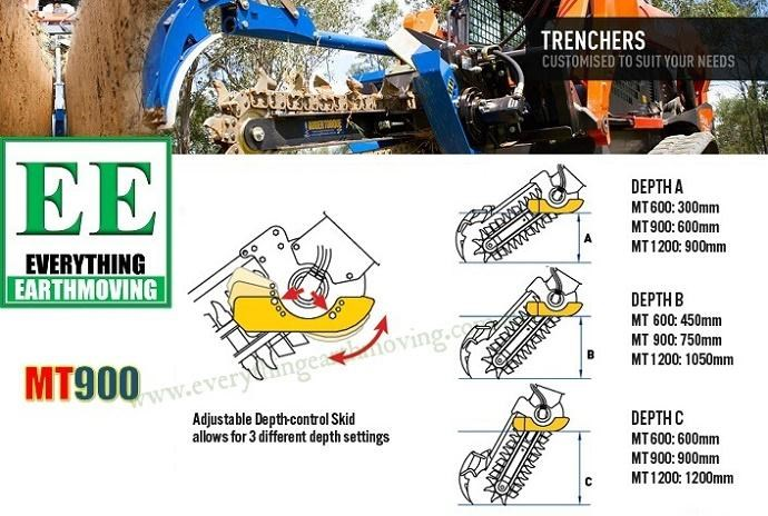 auger torque auger torque ee mt900 trencher is designed to suit mini loaders, skid steers loaders upto 80hp and mini excavators 2.5 to 5 tonnes 358427 012