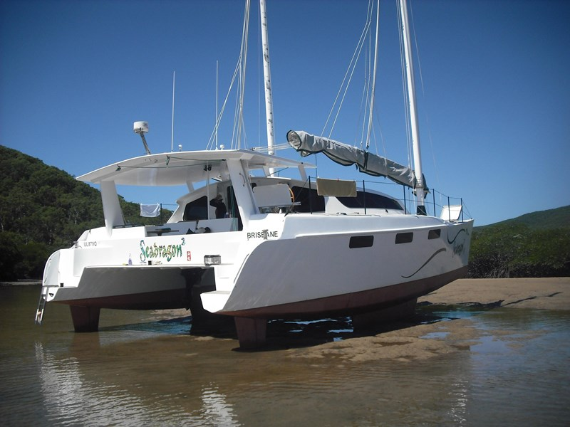 simpson 40 ft junk rig catamaran 360183 004