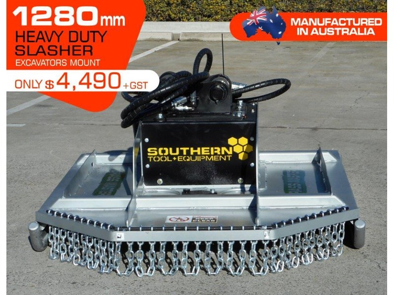 rhino slasher. brush cutter attachment 4ft / 1280mm excavator mount excavator pick up [attslash] 236259 001