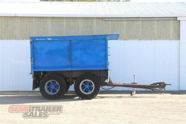 custom semi pig tipping trailer 362308 001