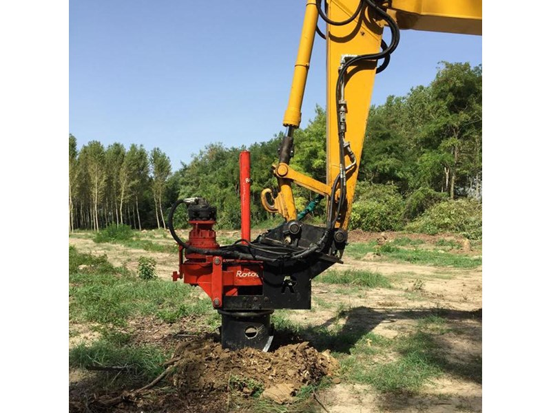 stump drill excavator mounted stump drills 367352 001