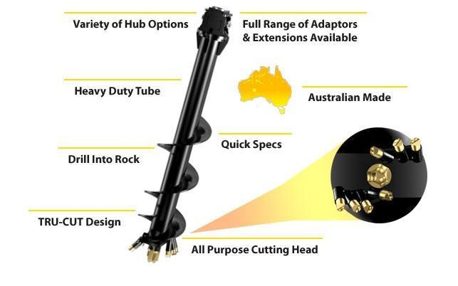 dingo a7 combination earth & rock auger 367614 001