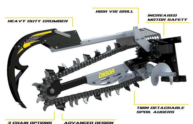 digga xd 1200 hydrive trencher 367873 001