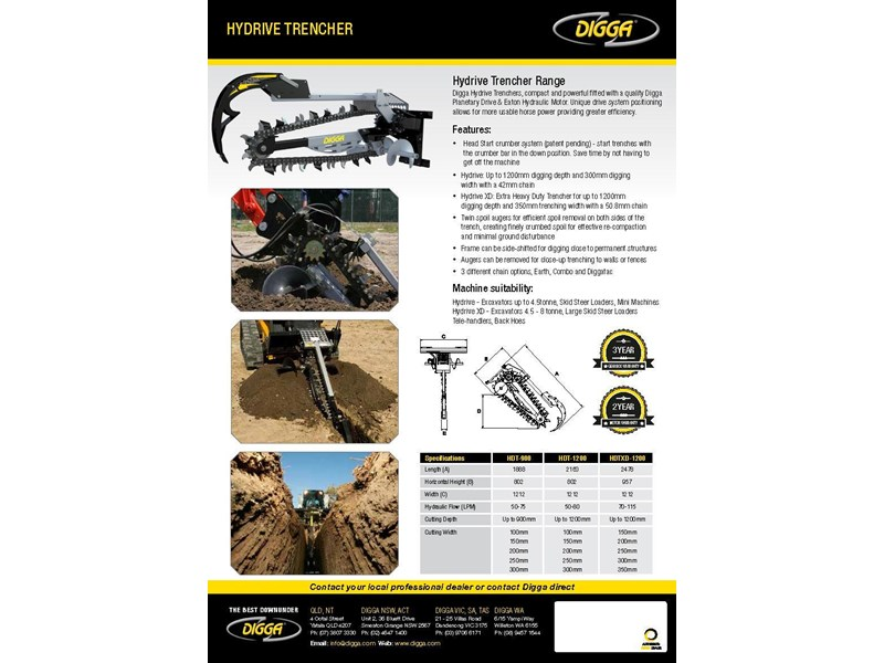 digga xd 1200 hydrive trencher 367873 003