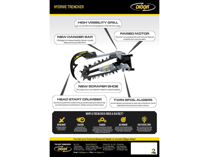 digga 900 hydrive trencher 367875 002