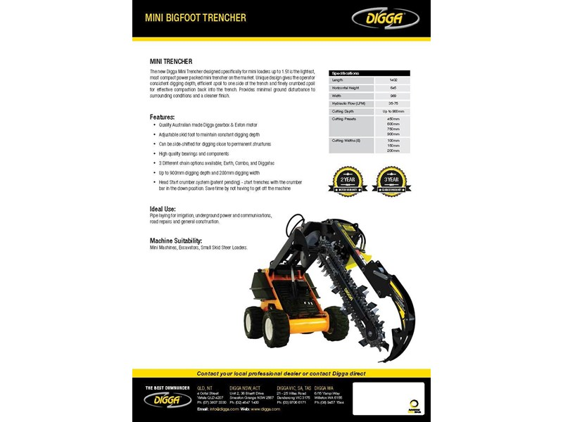digga mini bigfoot trencher 367876 003